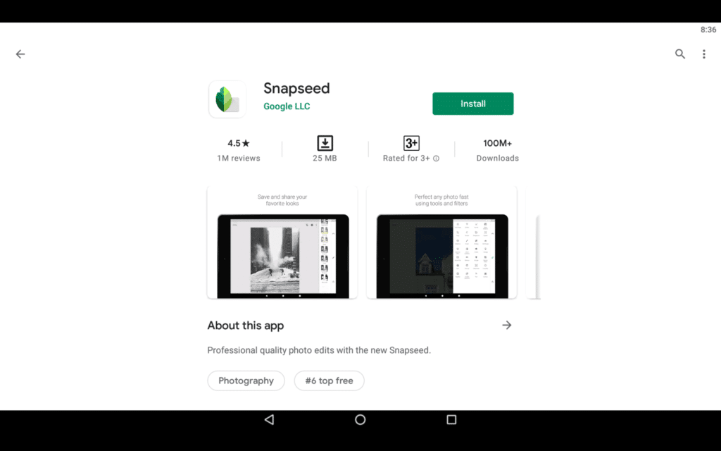 Snapseed For PC 2