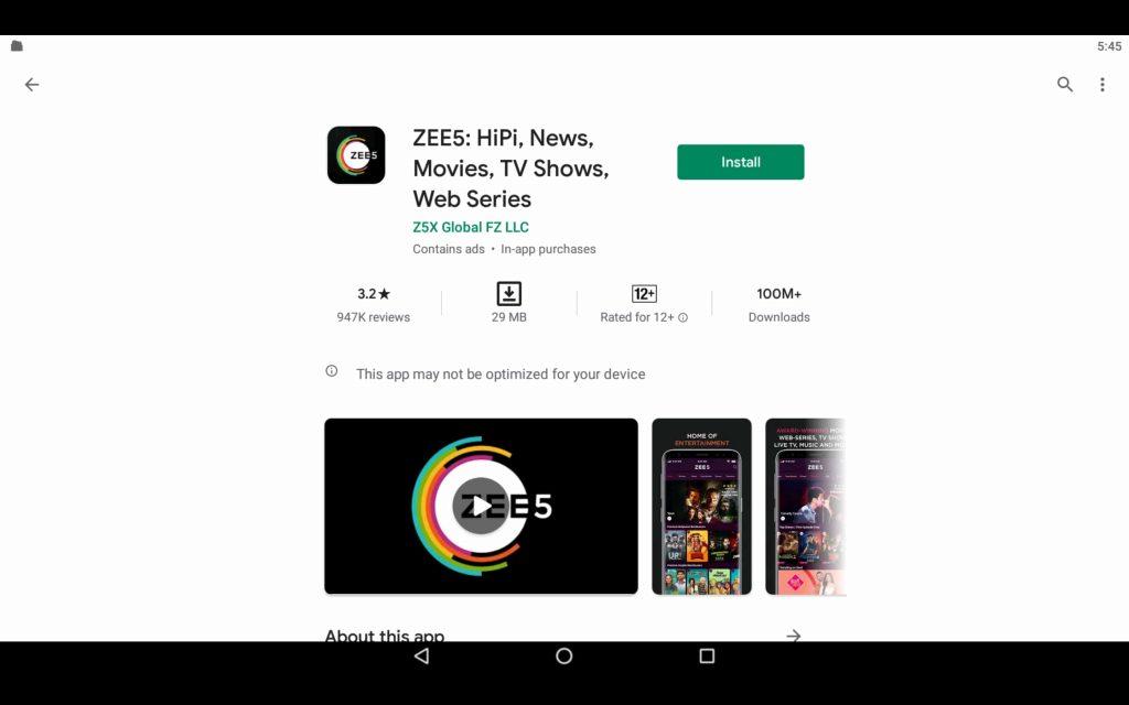 ZEE5 App For PC 2