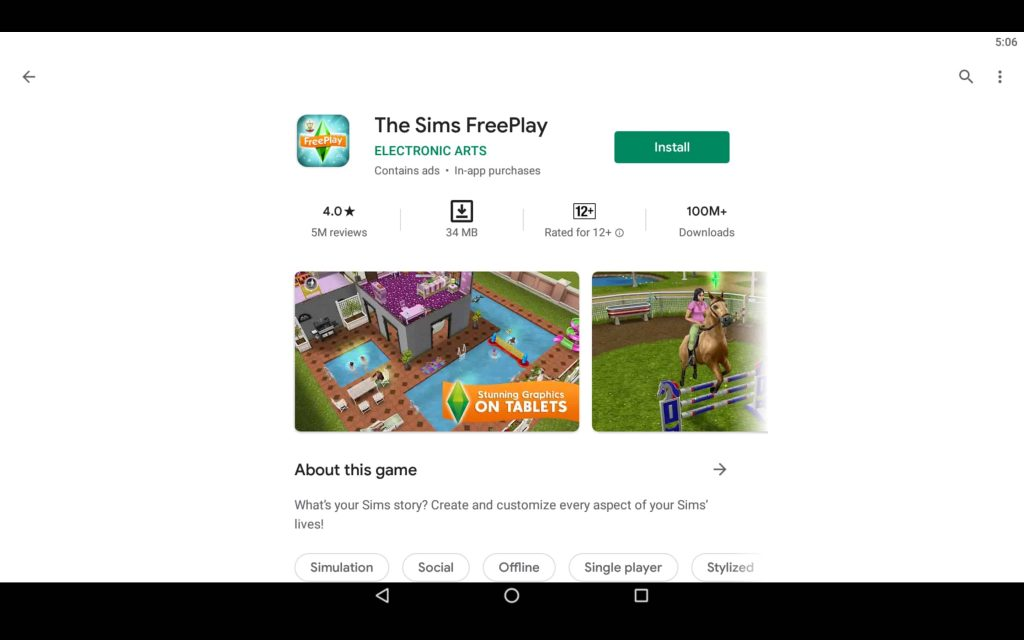 The Sims FreePlay PC 2